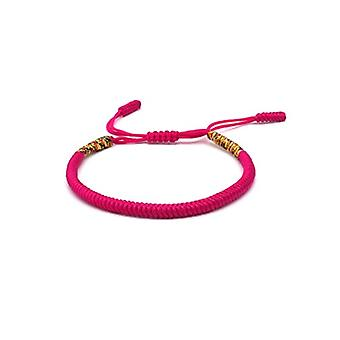 Benava, Tibetan friendship bracelet, Buddhist jewel and metal base, color: Pink, cod. 0032-Pink