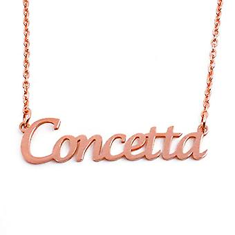 KL Kigu Concetta - Women's necklace with name, rose gold, with name, fashionable, gift for girlfriend, mother, sister