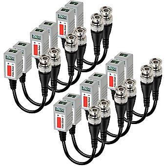 FengChun 6 Paar (12 stecken) Mini CCTV BNC Video Balun Transceiver-Kabel