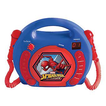Lexibook RCDK100SP Spider-Man Reproductor de CD con micrófonos enchufe reino unido