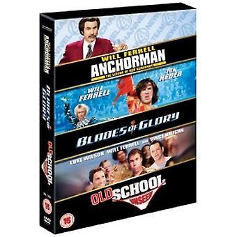 Blades of Glory / Old School / Anchorman DVD