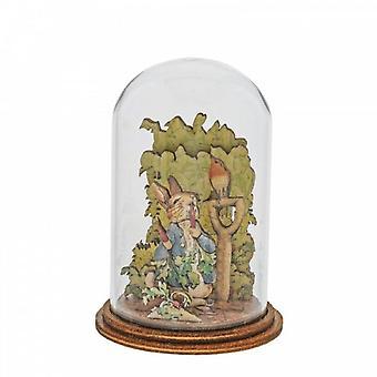 Peter Rabbit con ravanelli Statuetta di legno