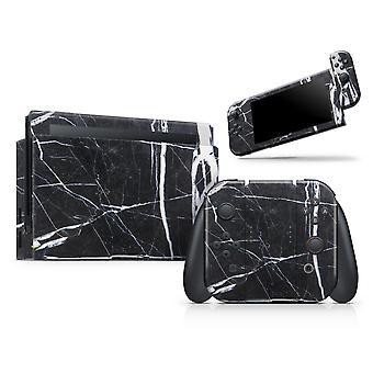 Natural Black & White Marble Stone - Full Body Skin Decal Wrap Kit