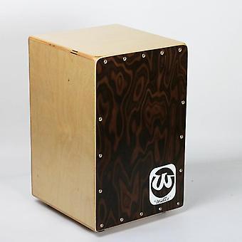 Kitaran kieli aikuinen cajon rumpu puu lyömäsoittimen käsin beat box rumpu soitin 310 * 300 * 480mm koko rumpu vapaa rumpu laukku