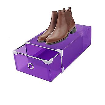 Creative Half Transparent Drawer Style Shoe Box For Both Men And Women