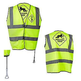 MEN Yellow Reflective Vest for Parties