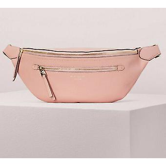 Kate Spade Polly Large Belt Bag Flapper Pink Pebbled Leather PXRUA365