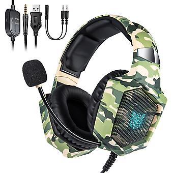 Camouflage Gaming Headset For Nintendo Switch Ps4 Xbox One With Microphone