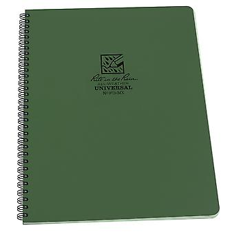 Rite In The Rain Universal Notebook, Side Spiral Bound 4.5 x 7 Inch - Green