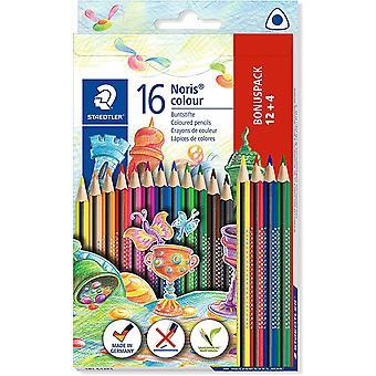 187 C12P1 Noris Colour Buntstift (erhöhte Bruchfestigkeit, Dreikantform, attraktives Design,