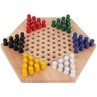 Halma, Chinese Checkers, Holzbildungs Brett Spiele for Kinder Klassische Halma Halma Set