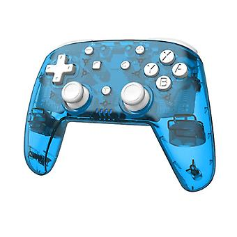 Trådlös handkontroll för Nintendo Switch transparent Blå