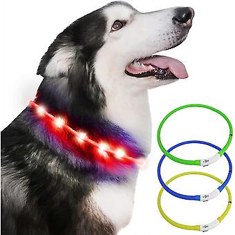 Led Dog Collar Flashing Led Light Usb Rechargeable For Pet Outdoor Night