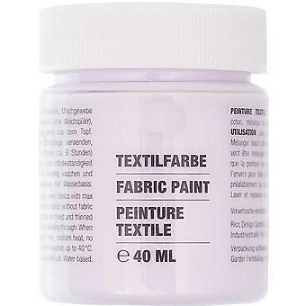 Lilac Purple Fabric Paint for Light Fabrics - 40ml