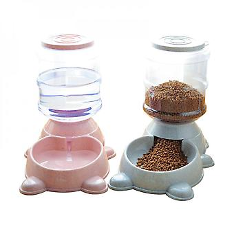 Automatic Pet Feeder Large Capacity Water Dispenser Food Bowl For Cats Dogs