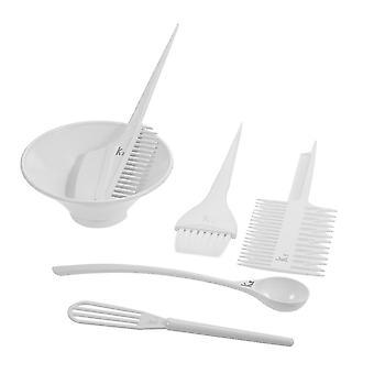 6pcs Salon Hair Coloring Dyeing Kit Brush Comb Bowl White Hair Tint Bowl Mixing Tool Diy