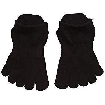 ToeSox Full Toe Low Rise Grip Socks For Barre Pilates Yoga Dance - Black