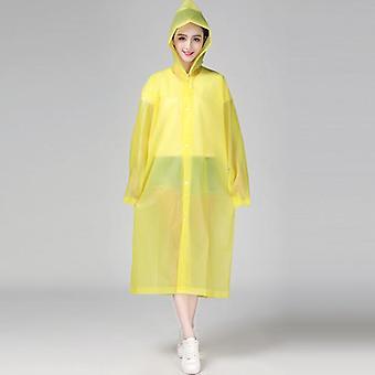 Muoti eva naiset sadetakki paksuuntunut vedenpitävä sadetakki naiset selkeä läpinäkyvä camping vedenpitävä sadevaate puku