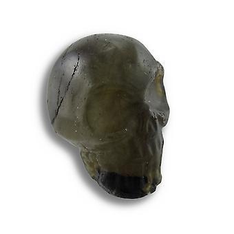 Beautiful Carved Labradorite Gemstone Skull 25mm 1 Inch
