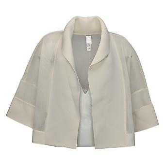 WynneLayers Women's Cropped Mesh and Neoprene Jacket White 758672