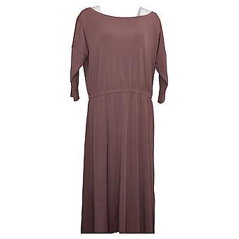 Brittany Humble Petite Dress B.E. Ready Dolman Sleeve Midi Purple 753827