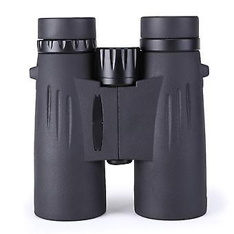 12x42 Binoculars Portable High Magnification Life Waterproof Binoculars Compact with High Power HD BAK4 Prism FMC Lens Binocular for Bird Watching,(black)