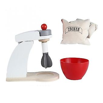 Wooden Kitchen Pretend Play Simulation Coffee Toaster Machine Food Mixer Baby Toys