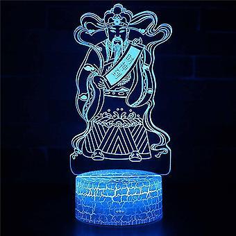 Lámpara de ilusión 3D 7 colores Cambio óptico Touch Light USB y control remoto Art Deco Hacen un romántico
