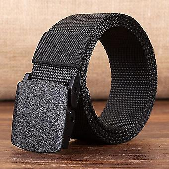 Modern és trendi uniszex 120 cm állítható csatos öv(120cm)(Fekete)