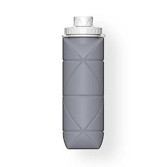 Skandinaavinen tyyli 600ml ulkona taitettavat kokoontaitettavat vesipullot (harmaa)