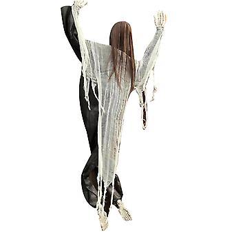 Хэллоуин Восхождение зомби Страшно висящий призрак с кровавыми пятнами