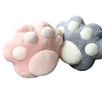 2pcs Cat Paw Car Neck Pillow Carino Car Headrest Pillow Peluche Cat Paw Cushion