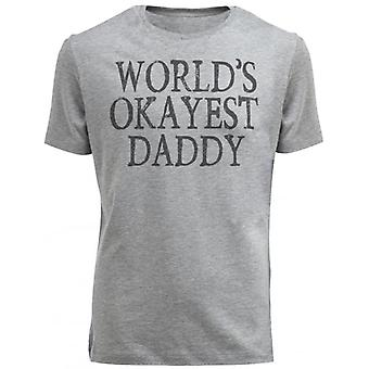 Spoilt Rotten World's Okayest Daddy Men's Low Neck T-Shirt