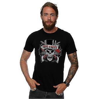 Guns N' Roses masculino afligido camiseta de cabeça da morte