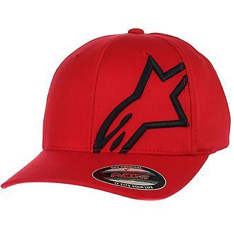 Alpinestars Flexfit curba cap ~ Corporate Shift 2 rosu/negru