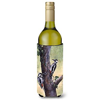 Woodpeckers by Daphne Baxter Wine Bottle Beverage Insulator Hugger