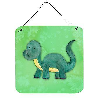 Stampa acquerello parete brontosauro o porta appeso