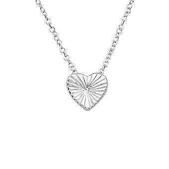 Heart - 925 Sterling Silver Plain Necklaces - W19673X