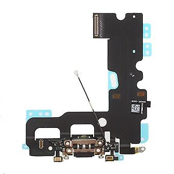 7 Conector carga iPhone flex cable negro de la base