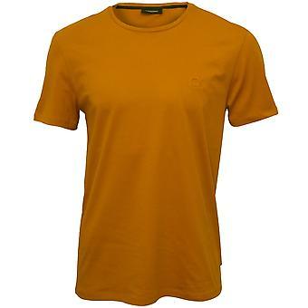 Calvin Klein Яри тиснением логотипа экипажа шеи футболку, облепихи Браун