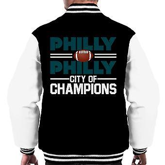 Philadelphia Eagles Philly City Of Champions Men's Varsity Jacket