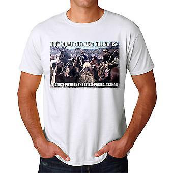 Young Guns Spirit World Men's White T-shirt