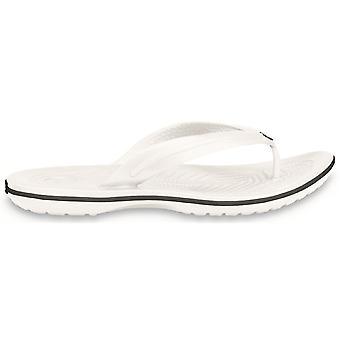 Crocs Mens Crocband Flip Croslite Flip Flop Sandal White