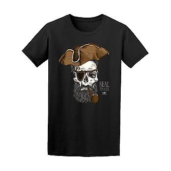 Bearded Skull Real Pirate Tee Men's -Image by Shutterstock