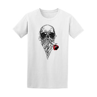 Skull With Rose In Mouth Tee Men's -Image by Shutterstock