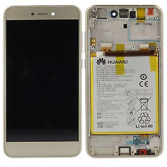 Huawei display LCD unit + Service Pack 02351DLS gold frame for P8 Lite 2017