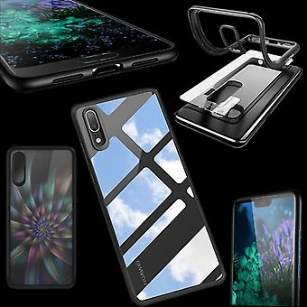 Original ROCK bumper case for Huawei P20 per cover protective bag cover case Black new