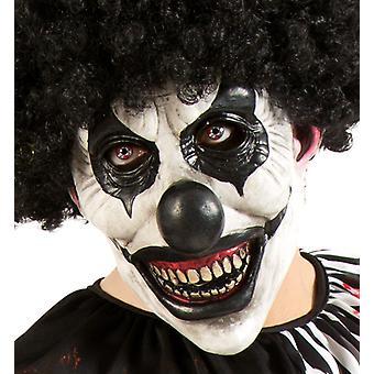 Horror klovn hvit svart tre kvart masken Halloween