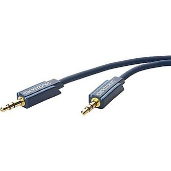 clicktronic Jack Audio/cinch-kabel [1 x Jack plug 3.5 mm - 1 x Jack plug 3.5 mm] 5 m blauw vergulde connectoren