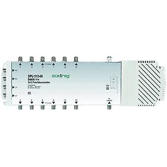 Axing SPU 512-05 SAT multiswitch Inputs (multiswitches): 5 (4 SAT/1 terrestrial) No. of participants: 12 Quad LNB compatible